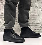 Кроссовки мужские Nike Air Force 1 в стиле найк форсы НА МЕХУ (Реплика ААА+), фото 4