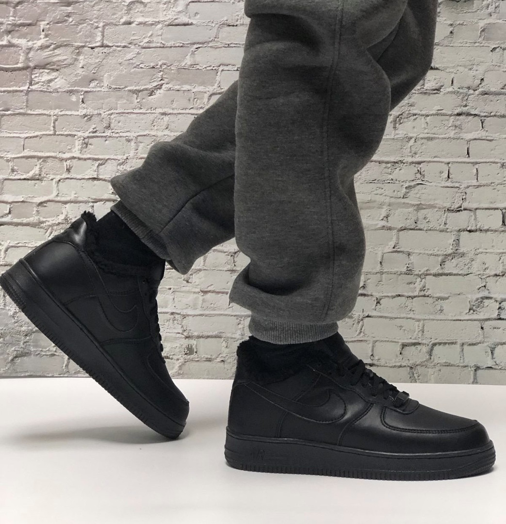 Кроссовки мужские Nike Air Force 1 в стиле найк форсы НА МЕХУ (Реплика ААА+)