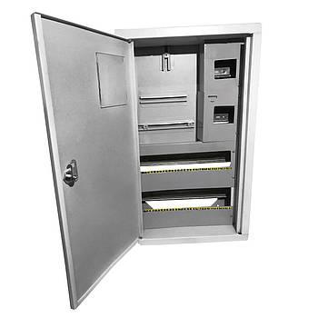 Щит под 3ф электрический счетчик на 36 автоматов внутренний (ЛОЗА) размеры: 540х310х100
