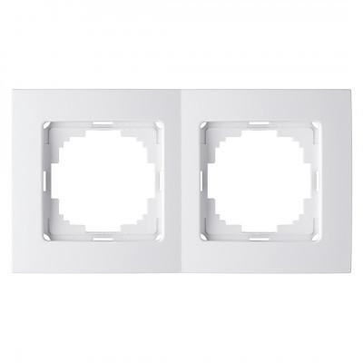 Рамка двойная горизонтальная белая Nilson Touran