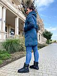 Женская зимняя куртка плащевка холлофайбер очень теплая размер: 48,50,52,54,56,58, фото 5