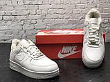 Кросівки чоловічі Nike Air Force 1 в стилі найк форси НА ХУТРІ (Репліка ААА+), фото 3