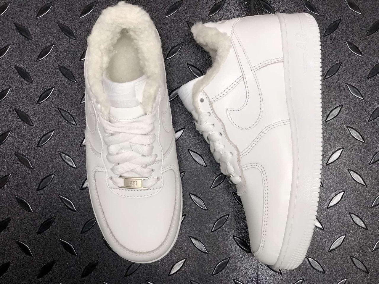 Кросівки чоловічі Nike Air Force 1 в стилі найк форси НА ХУТРІ (Репліка ААА+)
