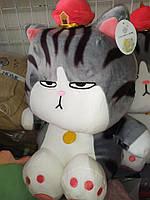 Іграшка дитяча з покривальцем - похмурий кіт