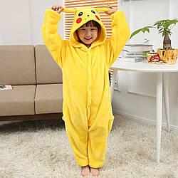 Кигуруми Пікачу піжама цілісна дитячий комбінезон жовта