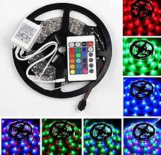 Комплект Світлодіодна стрічка багатобарвна 3528 RGB комплект 5м c пультом
