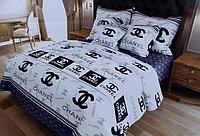 """Семейное постельное белье """"Голд"""" из брендовым логотипом"""
