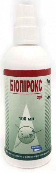 БИОПИРОКС спрей для лечения микроспории и трихофитии у собак, кошек и пушных зверей, 100 мл