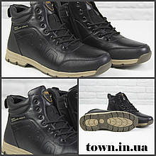 Зимние мужские ботинки теплые на меху Stylen Gard M8922-2 черные