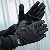 Перчатки Софтшеллчерные с Тачскрином