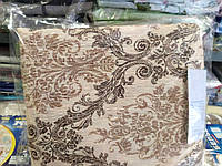 Постельное белье Евро размера жатка Тирасполь бежево-коричневый цвет