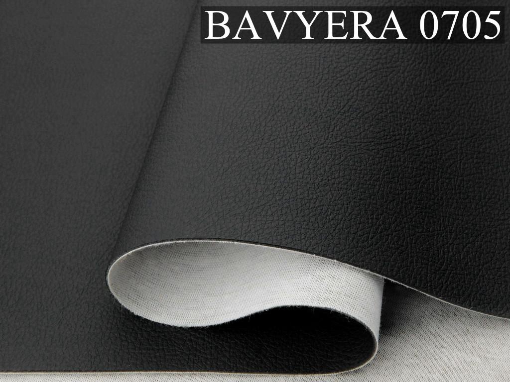 Автомобльний кожзам BAVYERA 0705 черный, мягкий на ощупь, на тканевой основе (ширина 1,40м) Турция