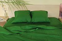 Двоспальне постільна білизна Gold зелене