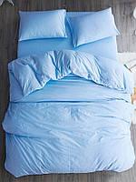 Двоспальне постільна білизна Gold блакитний