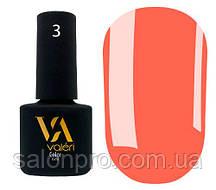 Гель-лак Valeri Color № 003 (персиково-оранжевый, эмаль), 6 мл