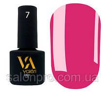 Гель-лак Valeri Color № 007 (яркий розовый, эмаль), 6 мл