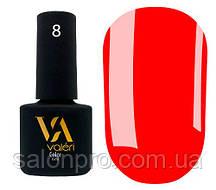 Гель-лак Valeri Color № 008 (неоновый красный, эмаль), 6 мл