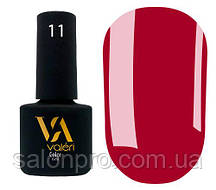 Гель-лак Valeri Color № 011 (красновато-малиновый, эмаль), 6 мл