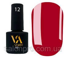 Гель-лак Valeri Color № 012 (алый красный, эмаль), 6 мл