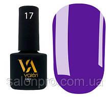Гель-лак Valeri Color № 017 (фиолетовый, эмаль), 6 мл