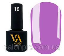 Гель-лак Valeri Color № 018 (сиреневый, эмаль), 6 мл