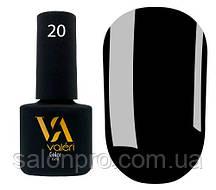 Гель-лак Valeri Color № 020 (черный, эмаль), 6 мл