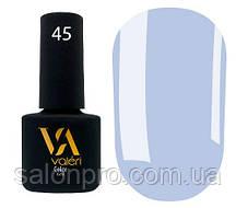 Гель-лак Valeri Color № 045 (холодный светло-синий, эмаль), 6 мл