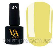 Гель-лак Valeri Color № 049 (оливково-желтый, эмаль), 6 мл