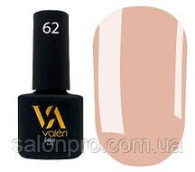 Гель-лак Valeri Color № 062 (темный бежевый, эмаль), 6 мл