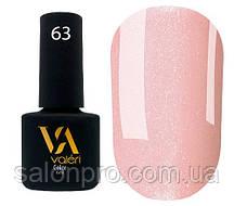 Гель-лак Valeri Color № 063 (персиково-розовый, эмаль), 6 мл