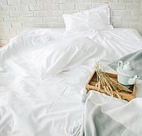 Двоспальне постільна білизна біла однотонна