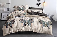 Сатиновое семейное постельное белье с бабочками