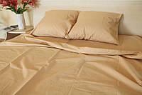 Двуспальное постельное белье Gold бежевое
