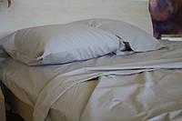 Двоспальне постільна білизна Gold світло-сіра однотонна