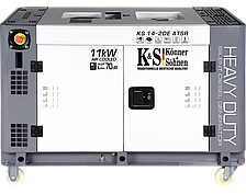 Генератор на дизеле Konner&Sohnen KS 14-2DE ATSR (11 кВт, 220V, Silent)