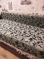 Покрывало на диван листья