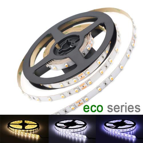 LED лента 3528 60 led/m 4,8W/m IP20 12V теплый, нейтральный, холодный белый серия eco