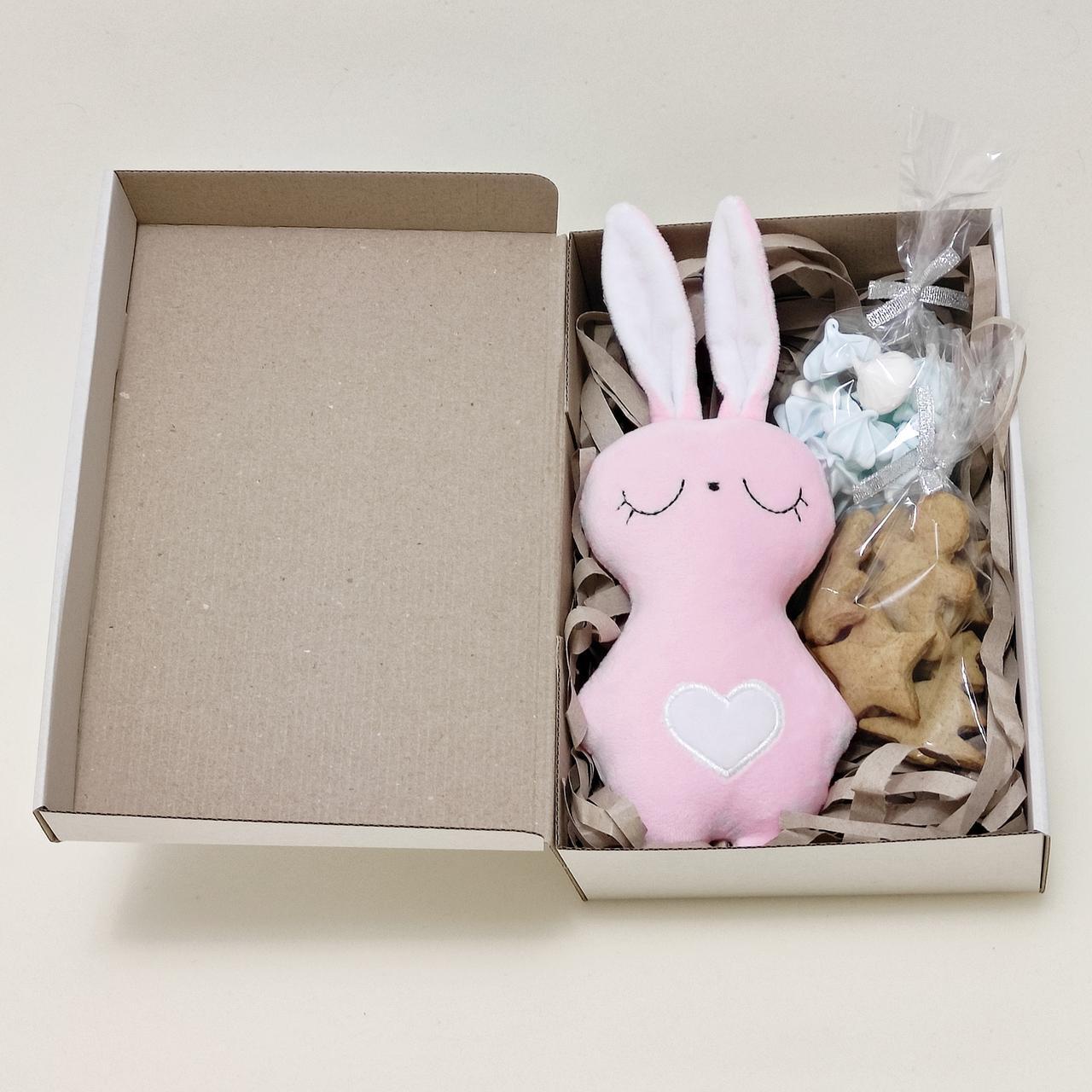 Подарочный набор на день Святого Николая мягкая игрушка зайка и сладости
