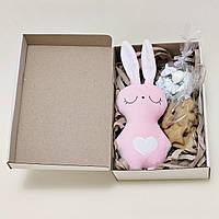Подарочный набор на день Святого Николая мягкая игрушка зайка и сладости, фото 1