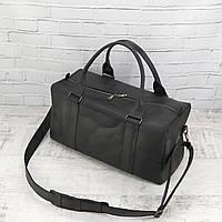 Дорожная сумка Mihey cube long черный из натуральной кожи crazy horse 1471002