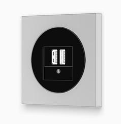Розетка антенна Berker R. 3 чорний/пластик полярна білизна