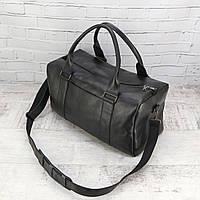 Дорожная сумка Mihey cube long черный из натуральной кожи detroit 1471601