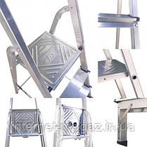Лестница стремянка алюминиевая односторонняя на 9 ступеней, фото 3