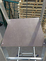 Стремянка с поручнями профессиональная на 6 ступеней алюминиевая, фото 3