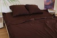 Семейное постельное белье Gold коричневое