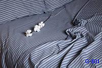 Семейное постельное белье Gold серое в полосочку