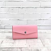 Кошелек Mihey button extra розовый из натуральной кожи kapri 1250407