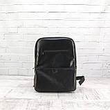 Рюкзак a4 черный из натуральной кожи alteya, фото 10