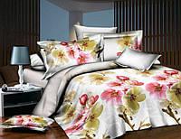Семейное постельное белье Gold цветущий сад