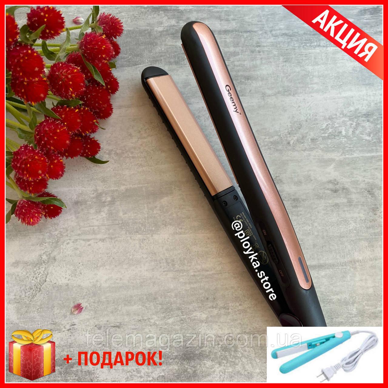 Выравниватель для волос Geemy GM-2955 ОРИГИНАЛ плойка утюжок  + Подарок